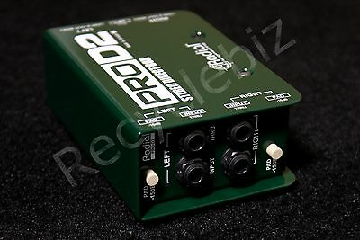 NEW! Radial Engineering ProD2 Stereo Passive Direct Box Pro DI Pro D2