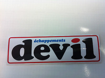 Autocollant Sticker Decal DEVIL échappements 5.3cm X 1.6 cm