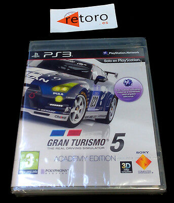 Gran Turismo 5 Academy Edition Sony Playstation 3 Ps3 Play Pal- Spagna Nuovo