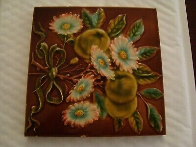 Antique Aesthetic style tile with raised floral design 19/106