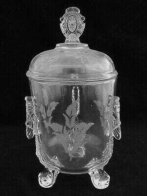 Rare Riverside No. 4 Grasshopper Pickle Or Marmalade Jar