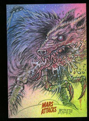2013 Topps Mars Attacks Invasion Sketch Card by MARK FINNERAL