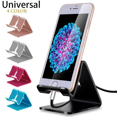 Universal Aluminum Phone Desk Table Desktop Stand Holder For Cell Phone Tablet R