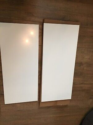 2x Gloss White Kitchen Wall Unit Replacement End Panels Brand New Sealed
