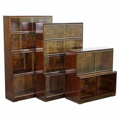 Legal Library Suite Of Minty Oxford Modular Stacking Mahogany Library Bookcases