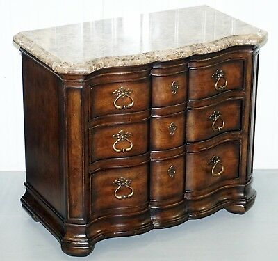 Ellen Degeneres Designed Rrp £3999 Thomasville Lucca Chest Of Drawers Marble Top