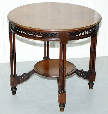 Rare 18Th Century Style Thomas Chippendale Clustered Column Leg Occasional Table