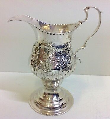 George III Solid Silver Cream Jug 71g. Hallmarked London 1780.