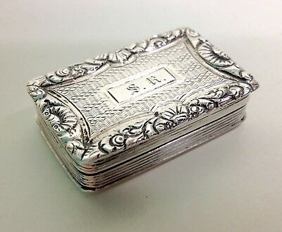 "George III Solid Silver ""Book"" Shape Vinaigrette William Sumner London."