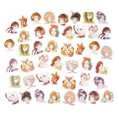 45pcs/box Kawaii Girl Paper Stickers Diary Decor Scrapbooking Christmas Gift ^S