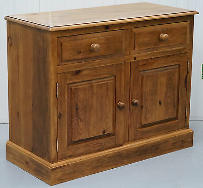 Lovely Vintage Farmhouse Country Solid Pine Sideboard Cupboard With Drawers