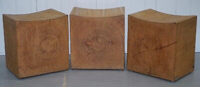 1 Of 3 Rrp £927 Each Riva 1920 Hand Made In Italy Cedar Wood Stools Part Suite