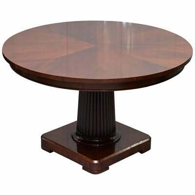 Rrp £8000 Ralph Lauren Mayfair Mahogany Centre Dining Occasional Round Table