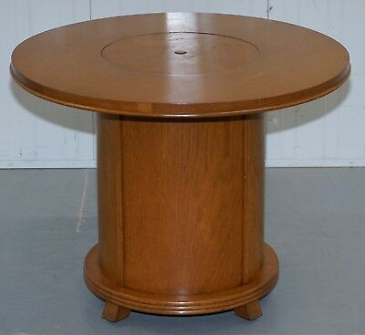 Rare 1930's Walnut Cocktail Table Cabinet With Rising Drinks Decanter Holder