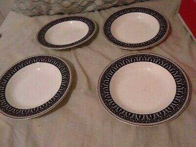 Set 4 New BILTMORE FOR YOUR HOME HOLLAND PLATINUM Rimmed Soup Bowls Cereal Tags