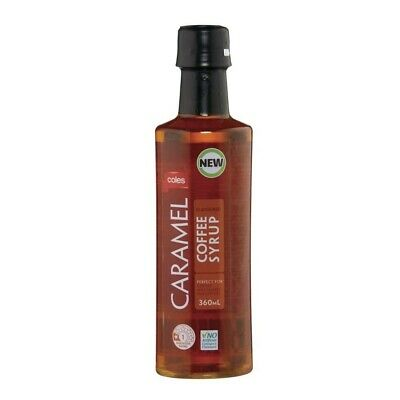 Coles Caramel Coffee Syrup 360mL
