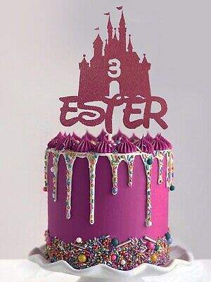 Superb Cinderella Castle Princess Inspired Personalised Birthday Cake Funny Birthday Cards Online Overcheapnameinfo