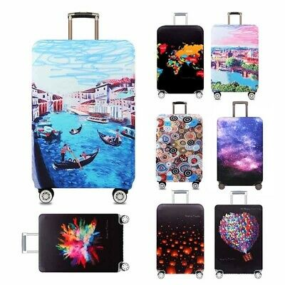 Colorful Elastic Luggage Cover Protector Suitcase Dust Proof Bag Anti Scratch CA
