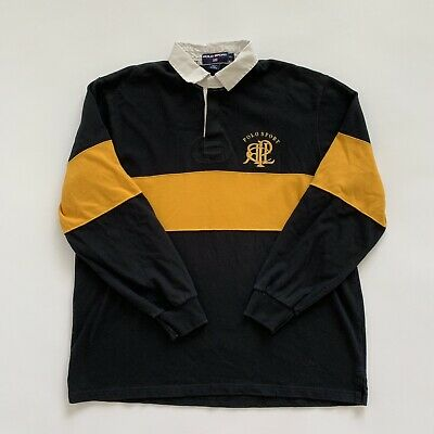 cb7183c8be46d MENS VINTAGE POLO Sport Long Sleeve Embroidered Logo Rugby Shirt X Large EUC