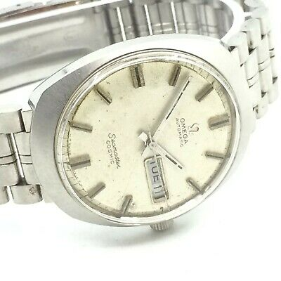 Vintage Omega Automatic Seamaster Cosmic Day Date 35Mm Mens Wrist Watch A2014