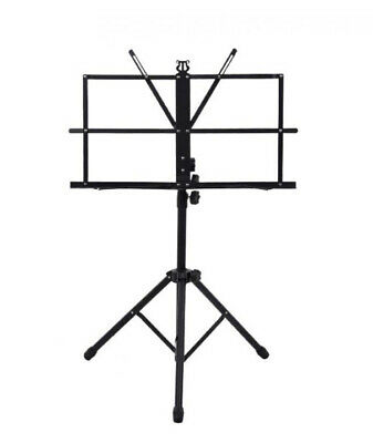 Adjustable Easy Folding Book Sheet Metal Music Stand Portable Holder with Bag