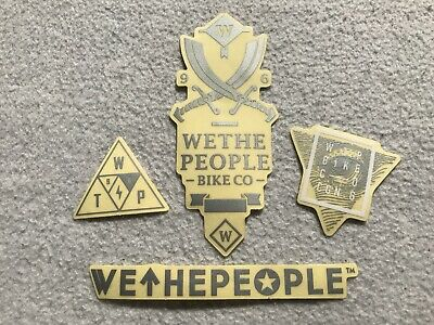 NEW 4 x We The People BMX Frame Stickers Silver Sticker Decals WTP Wethepeople