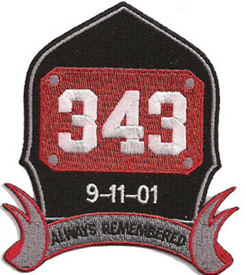 New York City 9-11-01 Always Remembered Fire Patch