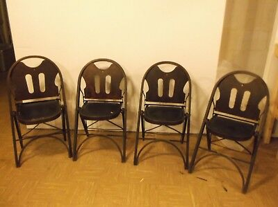 "Louis Rastetter & Sons - ""SOLID KUMFORT"" -  SET of 4 FOLDING CHAIRS, 1920's"