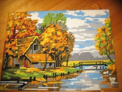 Vintage Autumn in the Country Completed Wool Tapestry by Royal Paris