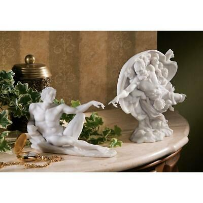 Design Toscano The Creation of Adam Bonded Marble Statues: Set