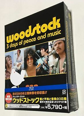 """Director's Cut Woodstock"" Production 40th Anniversary Blu-ray 2-Pack Very Rare!"