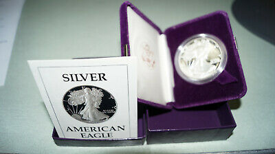 1987 WALKING LIBERTY AMERICAN EAGLE 1 Oz Fine Silver  Proof ONE DOLLAR COIN