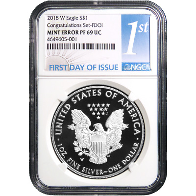 2018-W Proof $1 American Silver Eagle Congratulations Set NGC PF69 Rev Struck Th