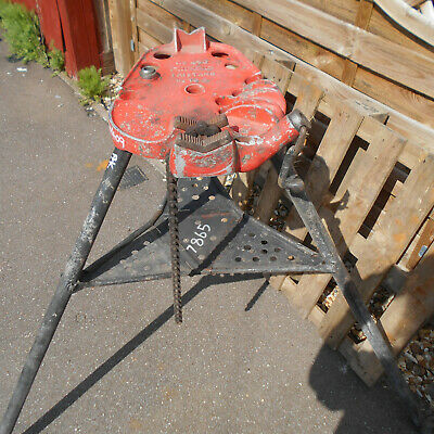 Ridgid 450 Tristand Pipe Vice Support Stand Used Good Condition