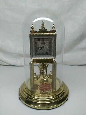 VINTAGE KUNDO SQUARE DIAL 400 DAY ANNIVERSARY TORSION CLOCK West Germany