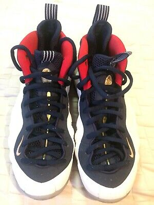 super popular aa046 fa1d7 Nike Mens Air Foamposite One PRM Olympic White Red Blue Size 10