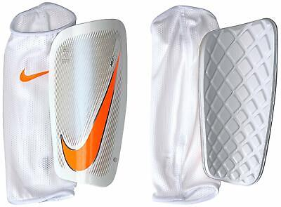 huge selection of 073e3 ab100 NIKE Mercurial Lite Soccer Shin Guards sz S Small Adult White Total Orange