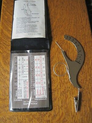 Vintage Hand Held Postal Scale With Plastic Case