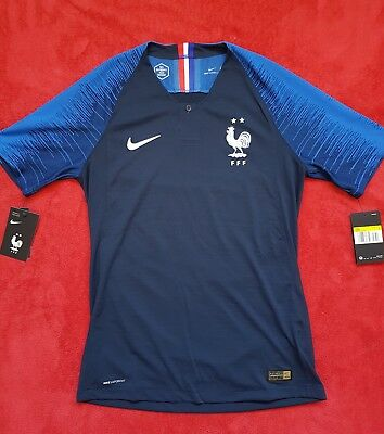 Bnwt Nike Fff Maillot Equipe France Wc 18/20 Vaporknit Player Issue 2 Stars, S