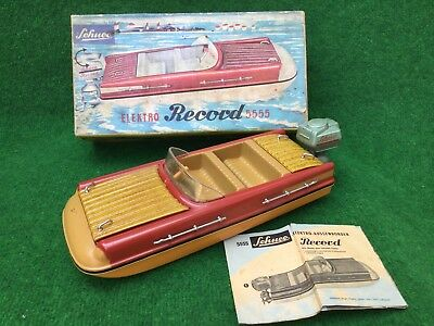 Schuco Elektro Record 5555 Boot / Boat W. Germany Boxed