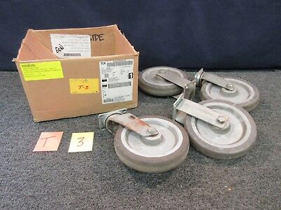 "Forbes Plate Caster Wheel Straight Swivel Dolly Cart 8"" Rubber Steel Industrial"