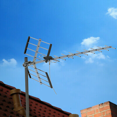 Leadzm 150Mile HD TV 1080P Outdoor Amplified TV Antenna UHF for Digital Signals