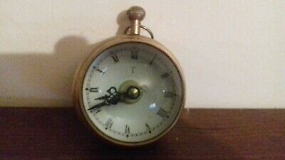 Rare Vintage Brass Magnified Clock