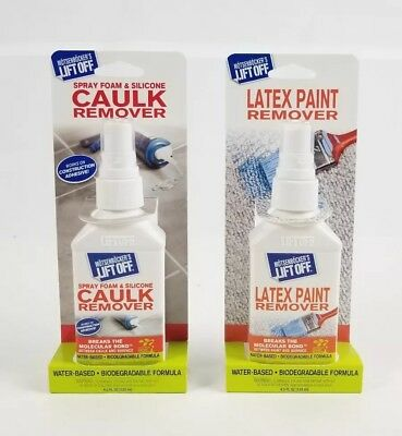 (Lot of 2) Lift Off Latex Paint & Caulk Remover Water Based Biodegradable. New