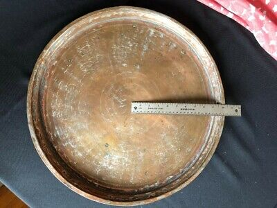 Antique Turkish copper serving or baking tray