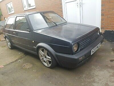 RARE VW Mk2 Golf 1.6 Helios Blue PROJECT with MK3 GTI Engine MOMO VR6 1.8T