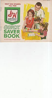 Vintage 1965 S&H Green Stamps Quick Saver Booklet