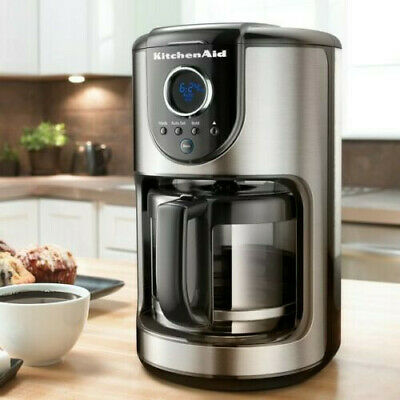 KitchenAid 12-Cup Glass Carafe Coffee Maker Onyx Black Automatic Coffee New