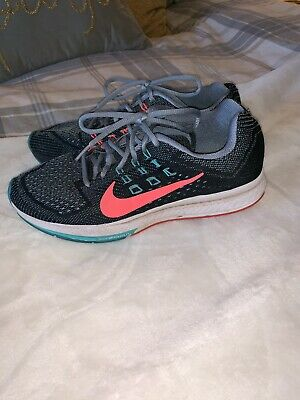 hot sale online 2a3bc 2e411 NIKE ZOOM STRUCTURE 18 Black Coral Womens Running 683737 001 Sz 9.5  Sneakers GUC