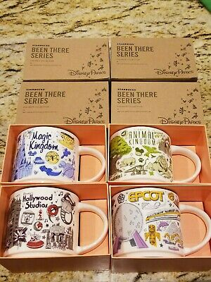 Starbucks Disney Parks *Been There* Series Coffee Mug Set of All 4 Theme Parks